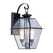 Livex Lighting 2-Light Black Outdoor Wall Lantern (2281-04)