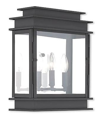 Livex Lighting 3-Light Black Outdoor Wall Mount Lantern (20204-04)