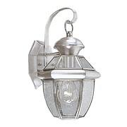 Livex Lighting 1-Light Outdoor Brushed Nickel Wall Lantern (2051-91)