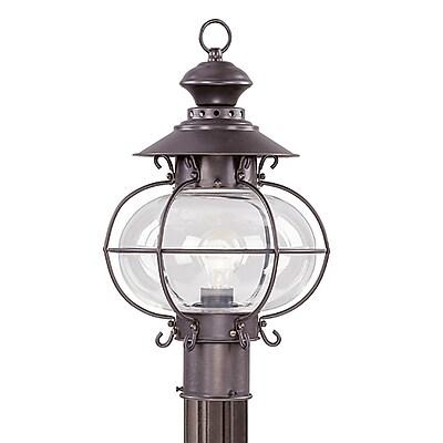 Livex Lighting 1-Light Bronze Outdoor Post Lantern (2224-07)