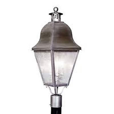 Livex Lighting 3-Light Outdoor Vintage Pewter Post Lantern (2556-29)