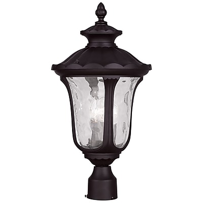 Livex Lighting 3-Light Outdoor Bronze Post Light (7859-07)