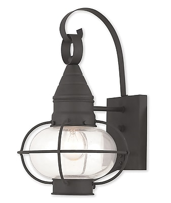 Livex Lighting 1-Light Black Outdoor Wall Mount Lantern (26901-04)