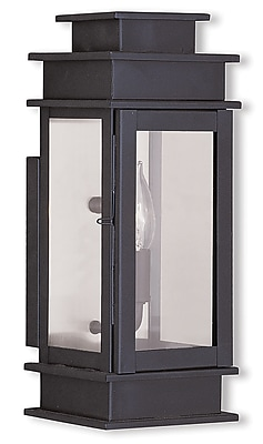 Livex Lighting 1-Light Outdoor Bronze Wall Lantern with Clear Glass Shade (2013-07)