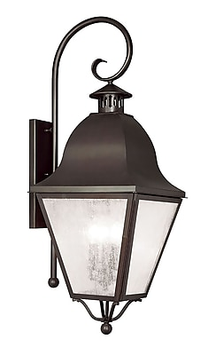Livex Lighting 4-Light Wall Bronze Outdoor Wall Lantern (2558-07)