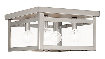 Livex Lighting 4-Light Brushed Nickel Flush Mount (4032-91)