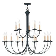 Livex Lighting 15-Light Black Chandelier (4460-04)