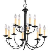 Livex Lighting 12-Light Black Chandelier (4459-04)