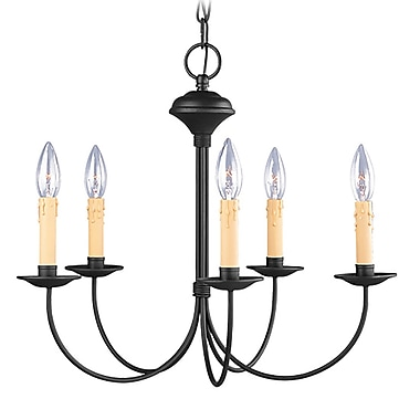 Livex Lighting 5-Light Black Chandelier (4455-04)