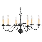 Livex Lighting 6-Light Black Chandelier (4450-04)