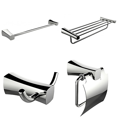 American Imaginations Single and Multi-Rod Towel Rack with Robe Hook and Toilet Paper Holder (AI-13994)