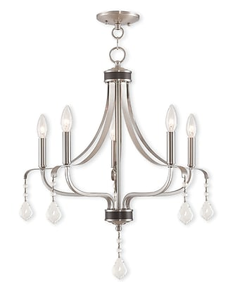 Livex Lighting 5-Light Brushed Nickel Chandelier (40785-91)