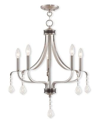 Livex Lighting 5-Light Brushed Nickel Chandelier (40785-91)