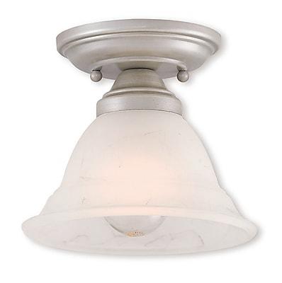 Livex Lighting 1-Light Hand Applied Brushed Silver Flush Mount (40721-34)
