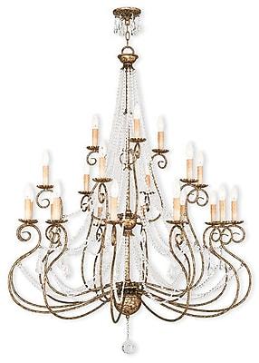 Livex Lighting 21-Light European Bronze Chandelier (51919-36)
