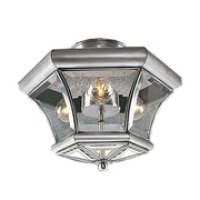 Livex Lighting 3-Light Brushed Nickel Semi-Flush Mount (4083-91)