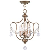 Livex Lighting 4-Light Antique Gold Leaf Convertible Semi-Flush Mount (6434-48)