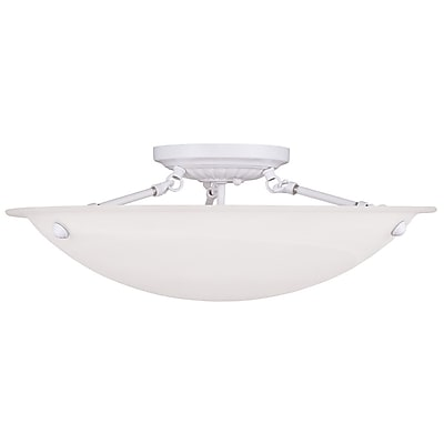 Livex Lighting 3-Light White Semi-Flush Mount (4274-03)