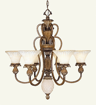 Livex Lighting 6-Light Venetian Patina Chandelier (8456-57)