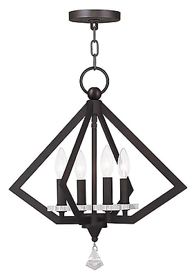 Livex Lighting 4-Light Bronze Chandelier (50664-07)