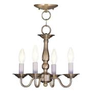 Livex Lighting 4-Light Antique Brass Chandelier (5010-01)
