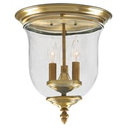 Livex Lighting 3-Light Antique Brass Flush Mount (5021-01)