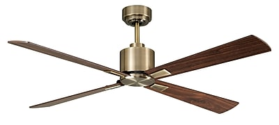 Beacon Lighting 52 In. Antique Brass Ceiling Fan with Remote Control (21052201)