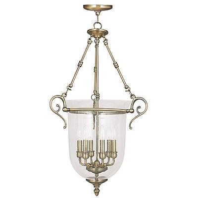 Livex Lighting 6-Light Antique Brass Pendant (5026-01)