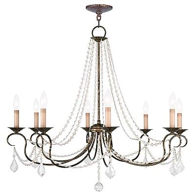 Livex Lighting 8-Light Venetian Golden Bronze Chandelier (6518-71)