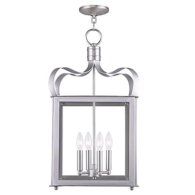 Livex Lighting 4-Light Brushed Nickel Pendant (4314-91)