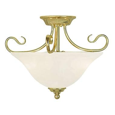 Livex Lighting 2-Light Polished Brass Flush Mount (6121-02)