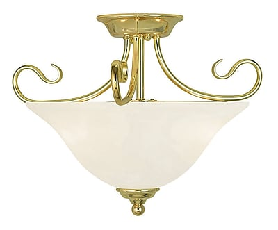 Livex Lighting 2-Light Polished Brass Flush Mount (6121-02)