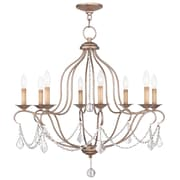 Livex Lighting 8-Light Antique Silver Leaf Chandelier (6427-73)