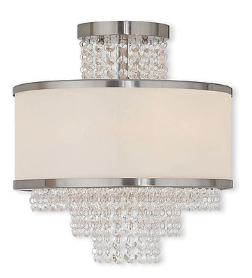 Livex Lighting 3-Light Brushed Nickel Flush Mount (50794-91)