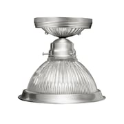 Livex Lighting 1-Light Brushed Nickel Semi-Flush Mount (6006-91)