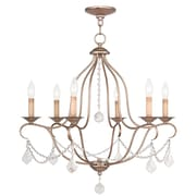 Livex Lighting 6-Light Antique Silver Leaf Chandelier (6426-73)
