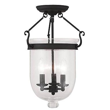 Livex Lighting 3-Light Black Semi-Flush Mount (5082-04)