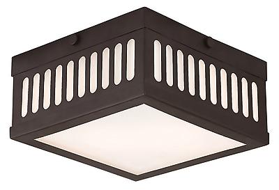 Livex Lighting 2-Light Bronze Flush Mount (73162-07)