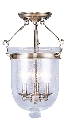 Livex Lighting 3-Light Antique Brass Flush Mount (5082-01)