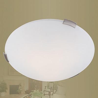 Livex Lighting 3-Light Brushed Nickel Flush Mount (7325-91)