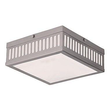 Livex Lighting 3-Light Brushed Nickel Flush Mount (73163-91)