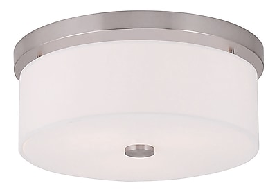 Livex Lighting 2-Light Brushed Nickel Flush Mount (50863-91)