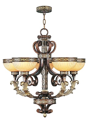 Livex Lighting 5-Light Palacial Bronze Chandelier with Gilded Accents (8545-64)