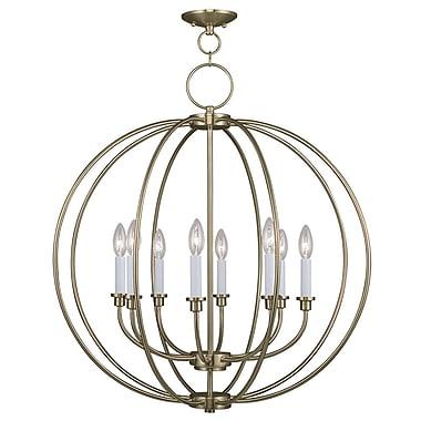 Livex Lighting 8-Light Antique Brass Chandelier (4668-01)