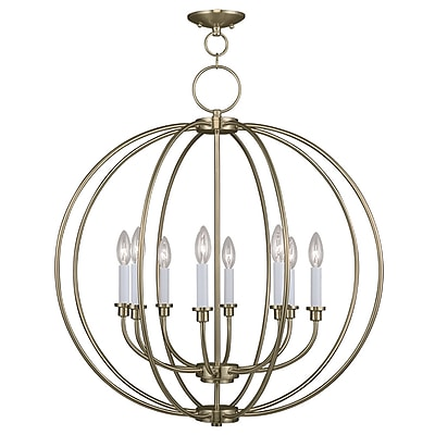 Livex Lighting 8-Light Antique Brass Chandelier (4668-01)