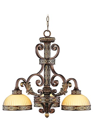 Livex Lighting 3-Light Palacial Bronze with Gilded Accents Chandelier (8523-64)