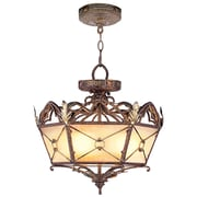 Livex Lighting 3-Light Palacial Bronze with Gilded Accents Semi-Flush Mount (8824-64)