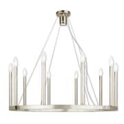 Livex Lighting 10-Light Polished Nickel Chandelier (40248-35)