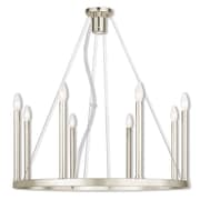 Livex Lighting 8-Light Polished Nickel Chandelier (40247-35)