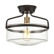 Filament Design 1-Light Oiled Rubbed Bronze with Brass Accents Semi-Flush Mount (STL-SVS474813)
